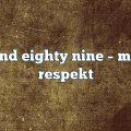 beyond eighty nine – Mutual Respekt