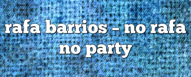 Airs on November 18, 2017 at 08:00PM No Rafa No Party with Rafa Barrios. Sunday at 11am EST you may also like: No related posts.