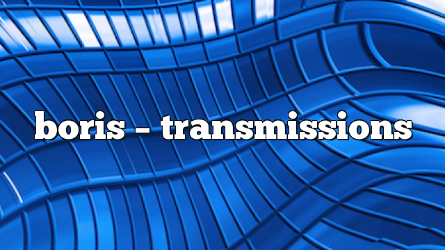 Airs on October 20, 2020 at 02:00PM In the Transmissions radio show you can enjoy Boris' sets along with other incredible guests.